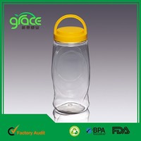 Screw Handle Lid 1350ml Clear Jar Container