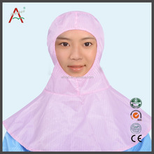 Pink/Blue ear cover hat neck cover cap with shawl esd work cap