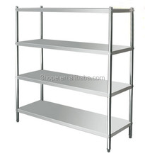 Display stand metal display rack kitchen stainless steel shelves