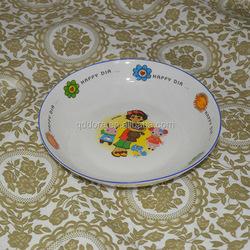 Wholesale red dinner plate ,cheap porcelain salad plate ,buy bulk ceramic plate