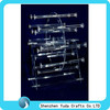 fashionable unique acrylic jewelry display rack with rods multi-function display holder for necklace,bracelets,headband