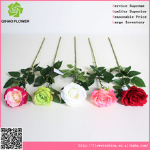 guangzhou cina fiore artificiale rosa grappolo bouquet di plastica