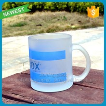 Drinking Juice Handle Glass Mug Frosted Glass with Handle Advertising Promotional Cups Glasses