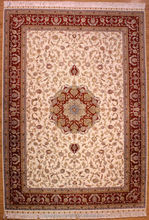 Noble high-grade hand knotted Persian style silk carpets 100%