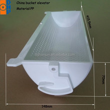 HJ4013 Plastic elevator bucket/white plastic buckets for bucket elevators/1.8L plastic buckets for food packaging