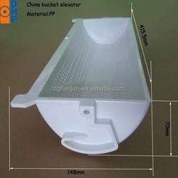 HJ4013 Plastic elevator bucket/white plastic buckets for bucket elevators/1.8L plastic buckets for food packaging