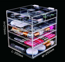 Home Decoration High Quality Fashional Handmade 5 Drawer Clear Acrylic Cosmestic Organizer