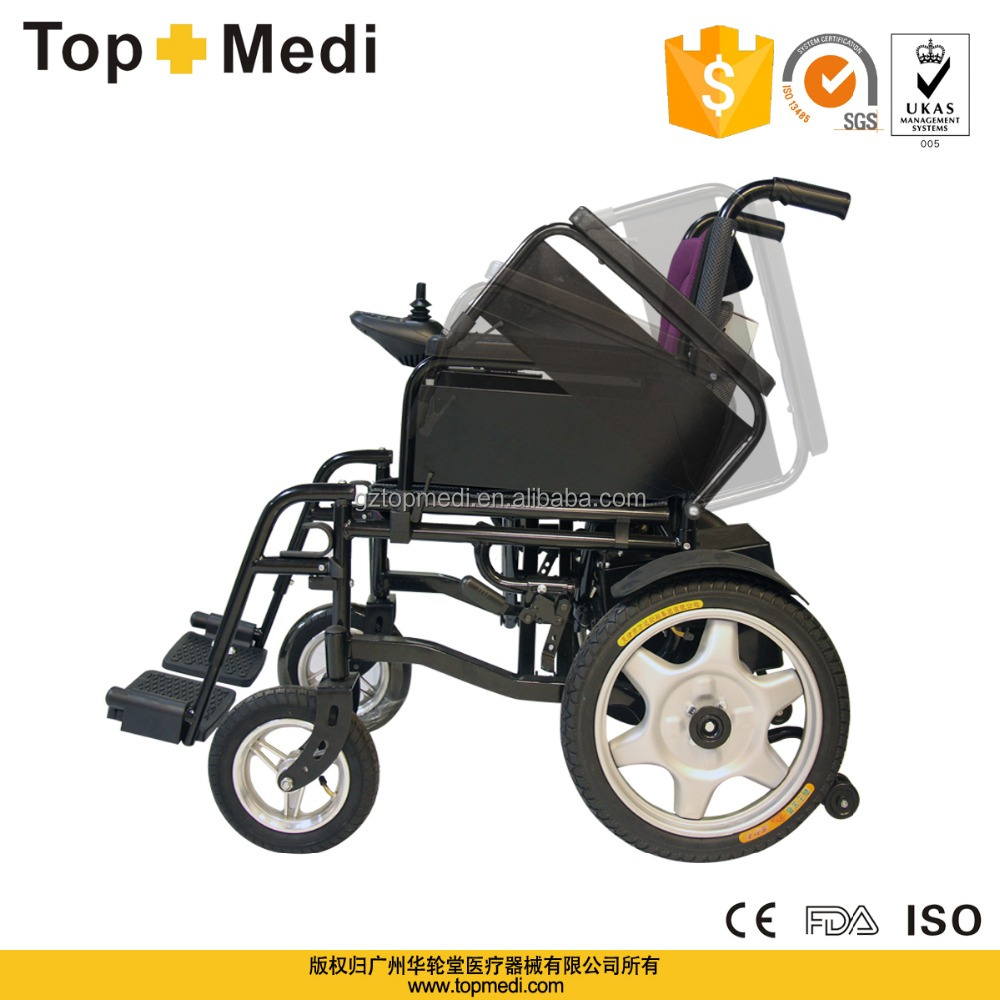 Topmedi Handicapped Steel Frame Folding Automatic Cheap Price Electric Wheelchair Buy Electric