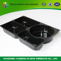Non-slip biodegradable material plastic compartment tray for food