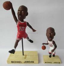 Hot sale NBA Michael Jorden realistic plastic mini figures with factory price