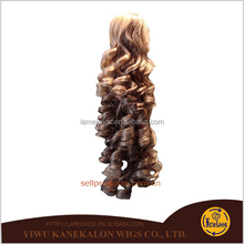 2014 hot sale fashion curly long ponytail wig synthetic1011
