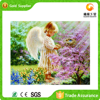 Factory manufacture best gift for little girl shiny plastic painting