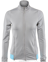 2015 high quality women light grey color spring thin down jacket sports slim fit jacket