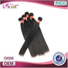 Shedding Free Cambodia Hair Machine Made Human Hair Wefts