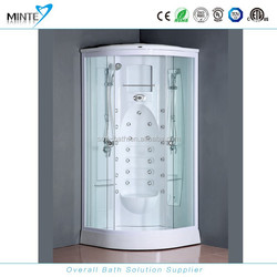 MINTE white ABS wall shower cabin