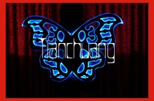 Full color led angel wing/lighted angel wings for stage show/light up fairy wings