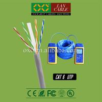 Laptop Computer Link 305m 1000ft FR PVC Sheath Jacket 4PR 23AWG 0.58mm Solid CCA Cat 6 UTP Network Cable