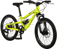 FUSION, 20INCH, KIDS AND PARENTS, DUAL SUSPENSION MTB FROM GOLDEN WHEEL, 7 SPEED, DOUBLE DISC BRAKES, ALLOY FRAME