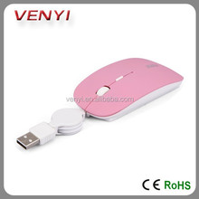 Punctual Delivery Wired Optical PC Mouse Retractable Mouse