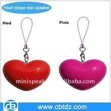 lovely Heart shape mini speaker for christmas gift
