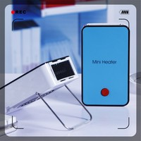Mini Portable Fan Heater Rechargeable battery powered portable heater / hand warmer