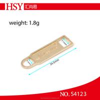 China craft slider zipper pull tabs for bag