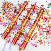 round paper confetti cannon party poppers
