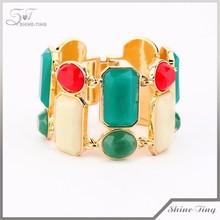 alibaba fashion gold jewelry resin stone bracelet bangle wholesale