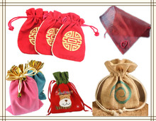 Hermosa yute reciclaje bolsas de regalo para Crismas