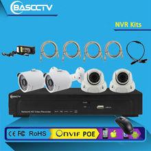 4CH/8CH CCTV Digital Security IP Camera NVR Kits