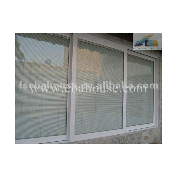 Aluminium fen tre coulissante en verre double volet portes for Fenetre en verre