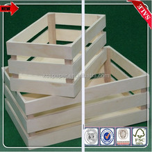 factory price wood fruit box, wood box for fruits and vegetables, wood packing box