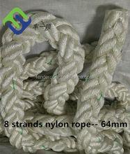 BV Approved 8 Strand Nylon Mooring Rope