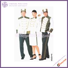 Printed doorman uniform in white for Hotel bellboy bellman doorboy doorman Uniform