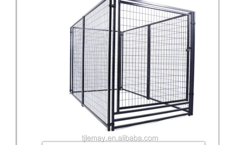 High quality pet products large outdoor galvanized steel dog kennel