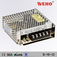 CE RoHS approved single output led switch PSU 15W dc power supply 12v 1.3a