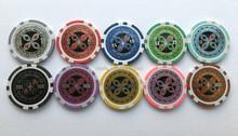 11.5g plastic/clay Laser sticker poker chips
