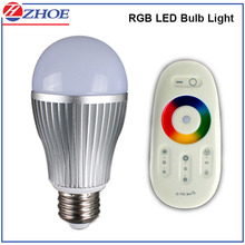 Manufacturer Intelligent and smart WIFI control RGB Dimmable LED Bulb Light 7W E27 A60 Aluminum Body SMD Chip