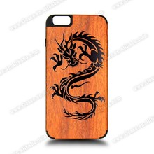 Ocase Luxury 100% Natural Wood and Plstic case with custom logo mobile phone accessory