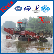 Weed Cutting Ship In River/Lake Weed Harvester/Trash Clening Vessel In Lake