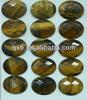 Fashion cutiing face semi precious stone europe type natural handmade jewelry making beads tiger eye yellow