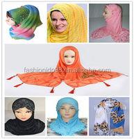 Fashion embroidery scarf muslim scarves hijab