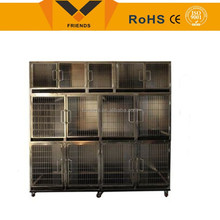 Dog cage/ large size stainless steel dog cage with wheels/ New Product High quality stainless dog cage