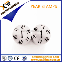 Split-type date stamp for moulding , Split-type mold date Inserts