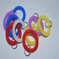 TPU plastic colorful customzied elastic key rings