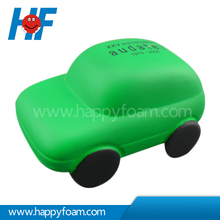 PU Promotional Green Car Shaped Stress Squeeze Toy
