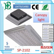 Railway Lighting Fixture LM79&LM80&IP66&CE&ROHS,200W,5 WARRANTY high lumen LED canopy light SP-2102