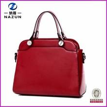 famous export vintage red color cheap designer women hand bag