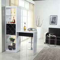 Wood Wine Glass Display Cabinet Home Bar Table Bar Counter