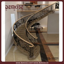 prefabricated marble stairs wrought iron stair handrail home decorate